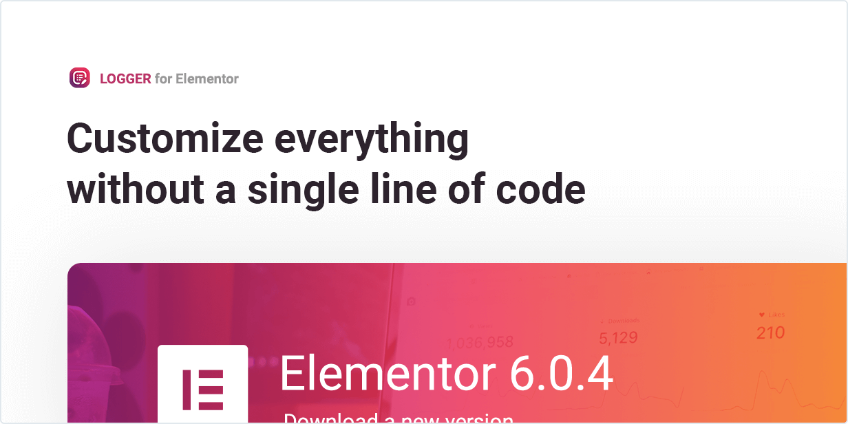 Customize everything without a single line of code in Changelog Lists for Elementor