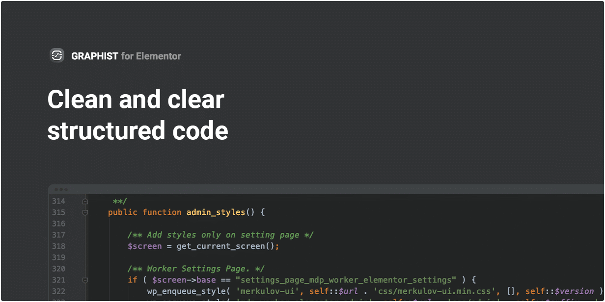 Clean, Clear & Structured code